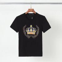 2021 Modedesigner T-Shirt Herren Top Luxus Brief Drucken Pistole Rhinestone