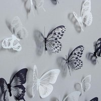 Wall Stickers 36pcs 3D Crystal Butterfly Creative Butterflies With Diamond Home Decor Kids Room Decoration Art Decals