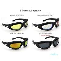 Óculos de proteção do exército polarizado Óculos de sol táticos 4 Kit de lente Tactical Óculos Desert Storm War Storm War Jogo Sporting Eyewear Proteção para os olhos 2021