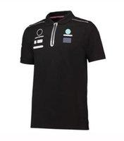 2021 F1 Özel Araba Serisi Logo Kısa Kollu Co-Markalı Polo Yarış Takım Elbise T-Shirt Takım Formula 1 Araba Fan Suit Hızlı Kuruyan Nefes Artı Boyutu Yarış Takım Elbise