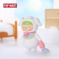 Pop Mart Pucky Durmiente Bebés Arte Figuras Figura de acción binaria Regalo de cumpleaños Juguete para niños