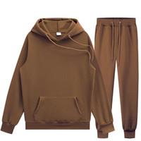 Women's Two Piece Pants 2021 Womens Sets Hoodies Autumn Winter Hooded Sweatshirt Sweatpants Hoodie Pant Hoody Pullover Female Suit Tracksuit