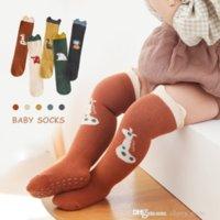 Baby boys girls cartoon Kneen socks autumn winter infant stereo animal lion dinosaurs crocodiles bears Tube Sock Toddler dot non-slip cotton stockings D058