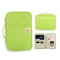 Business Card Files Multi-functional A4 Document Bags Filing Products Portable Waterproof Oxford Cloth Storage Bag For Notebooks Pens IPad C