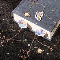 Astronaute Belle métal Bookmark Exquisite Art Pendentif Book Dossier Creative Student Main Compte Compte