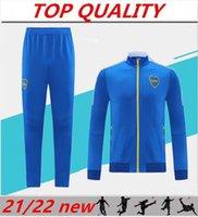 2021 2022 BOCA Юниоры футбольный куртка тренировочный костюм 21/22 бега трусцой футбольный костюм Tevez de Rossi размер S-XXL