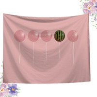 Tapestries 1Pc Fashion Art Printed Tapestry Wall Blanket Beach Towel Square Shaped Towel(Pink)