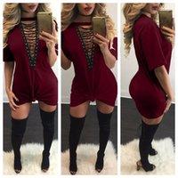 Autumn Cotton Fashion Plus Sleeve Size Dresses Sexy Short Summer Casual Loose V Neck Mini T-Shirt Dress Women Clothing Free Shipp
