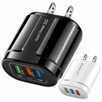Universal Smart Quick Carica QC3.0 UE US US Wall caricabatterie 1 2 3 Port Adapter per iPhone 7 8 x 11 Samsung Android Phone MP3 PC