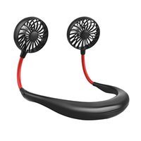Electric Fans Outdoor Portable USB Mini Fan Neck Rechargeable Small Sports Light Desk Hand Air Conditioner Cooler
