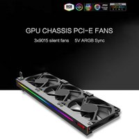 Graphics Cards 5V 3Pin ARGB Card Bracket With 3pcs 90mm Cooling Fan For Computer Desktop PC Case Chassis Heat Sink Accessories
