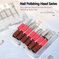 Nail Art Kits Polishing Head Set 5pcs 6pcs Machine Accessories With Sand Ring Tools Manicure Kit