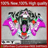 Carrossework Kit voor Kawasaki Ninja Motorcycle ZX 636 ZX600 ZX-636 ZX-600 2007 2008 Body 10NO.183 ZX-6R ZX600C ZX636 ZX6R 07 08 ZX 6R 600 CC 600CC 6 R 07-08 Verkrijgen Glossy Rose