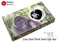 Qingmos Wish Pearl 25mm Gorilla Cage Clockers Collana per le donne con Oyster Love Ciondolo Catena Catena Gift-who3648