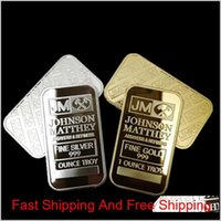 Arts And Crafts Gifts Home Garden 10 Pcs Non Magnetic Amerian Coin Jm Johnson Matthey 1 Oz Pure 24K Real Gold Sier Plated Bullion Bar
