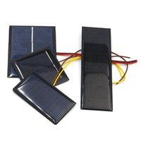مصغرة للطاقة الشمسية لوحة 0.5 فولت 1 فولت 2 فولت 2 فولت 4 فولت 5 فولت 80ma 100mA 120MA 130MA 160MA خلية الشمسية لشاحن الطاقة الشمسية ديي