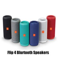 Flip 4 Bluetooth Speaker Portable Mini Wireless Flip4 Outdoor Waterproof Subwoofer Speakers Support TF USB Card DHL