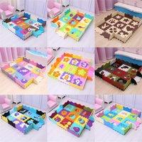 25 unids juguetes para niños EVA alfombras de espuma para niños EVA Alfombra suave del piso Puzzle Play Play Baby Play Floor en el suelo Alfombras de arrastre con cerca 2082 Q2