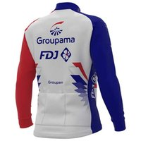 Fleece de invierno Térmico solo ciclismo Chaquetas Ropa Jersey Largo Ropa Ciclismo Groupama FDJ 2021 Tamaño del equipo: XS-4XL
