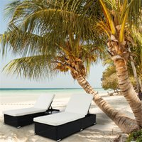 2 x 평면 침대 이동식 쿠션 커버 정원 세트 블랙 세트 차 테이블 유리로 수영장 그늘에 의해 편안한 휴식