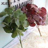 Magnolia Flor Plantas Acessórios de Parede Eucalyptus Simulação Folhas Falske Flores Decoração de Casa Coroas Decorativas