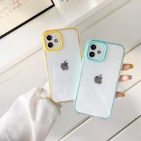 Candy color acrylic phone cases for iphone 13 12 11 pro max XR XS X 7 8 Plus anti-fall transparent cellphone protective cover case three kind of protection