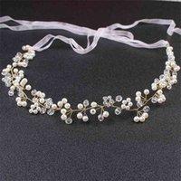 Rhinestone de la perla de venta caliente con el vestido de la boda blanca Accesorios para el cabello del plato DIEADA DE LA HIGE DE LA NOVIA