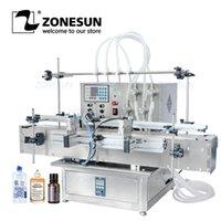 Conjuntos da ferramenta elétrica Zonesun ZS-DTMP4Y Tabletop automático 4 cabeças de enchimento líquido de água de enchimento de óleo essencial Garrafa de suco magnético Máquinas de enchimento