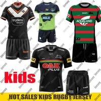 Wests Tigers Kids Rugby Jersey Brisbane Broncos Melbourne Storm Nrl Penrith Panthers Canberra ASSAURTER ASSAURTER SHIRTS Dimensioni: 16-26