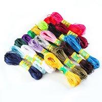 20m 1.5mm Mix Color Nylon Nero Rattail Rattail Satin Cinese Noto Seta Macrame Macrame Breading Braided Shamballa String Filo gioielli 1186 Q2