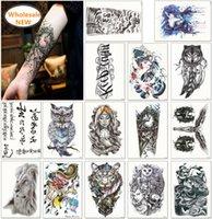 최신! 1600 스타일 하프 슬리브 문신 스티커 팔 임시 문신 방수 스티커 무작위로 전송 된 맞춤 문신을 받아들입니다.