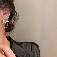 Stud 9pcs set Vintage Crystal Pearl Heart Earrings Set Geometric Sweet Hollow Star Tassel For Women Ear Jewelry