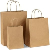 Gift Wrap Kraft Paper Bags With Twist Handle 1 3 5pcs Packaging Biscuit Candy Food Cookie Bread Baking Store Clothes