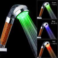 Banheiro 3 / 7Colors alterações LED de alta pressão economia de água ânion ânion controle de temperatura spa chuveiro cabeça