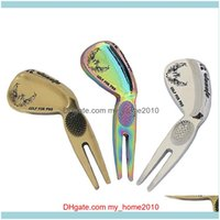 Golf Sports & Outdoorsgolf Training Aids Divot Tool Prongs Portable Green Repair Putting Repairing Fork Pitch Golfers Kit Equipment Gifts Cl
