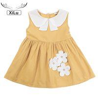 Girl's Dresses Kids Girls Dress Cotton Sleeveless Cute Doll Collar Princess Casual Toddler Children Clothing Girl Outfits