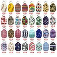 1000Pcs Lot 96 Style Neoprene Hand keyring 30ML Sanitizer Bottle Holder Keychain Bags Key Rings Hand soap Bottle Holder Random