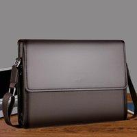 Designer briefcaseFashion Designer Luxury Simple Fashion Business Men Briefcase Bag Leather Laptop Bag Casual Man Bag Shoulder bags