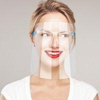 Envío rápido Seguridad Face Shield Gafas Reutilizable Gafas Fáculos Fachield Visor Transparente Anti-Fog Layer Proteger los ojos de Splash GWF7278