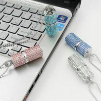 USB Flash Drives Pendrive Diamond Necklace Crystal memory Stick 4GB 8GB 16GB 32GB storages