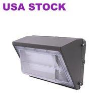 Открытые лампы 125 Вт Светодиодный настенный пакет, дневные уличные лампы 5000k, 7600 лм, замена HID, IP65, 120-277V, яркий стабильный коммерческий коммерческий на открытом воздухе освещение безопасности