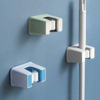 Lagerhalter Badezimmer Mopp Free Loching Toilette Starke Wandmontierte Haken Clip Aufhänger Kartenhalter Blau Rack RRD6914
