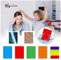 DHL New Notebook A5 Its Favor Push up Finger Bubble Silicone Cover Notepad Student Supplies Decompression Fidget Toys