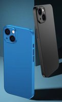 Ultra Slim Cellphone Cases For iPhone 13 Mini  Pro  Pro Max 12 11 Series XS XR Matte Mobile Phone Protective Cover Anti-drop Shockproof Cell Phones Accessories