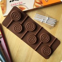 Baking Mold Lollipop Cake Chocolate Kids Handmade Molds For Oven Silicone Baking Mould