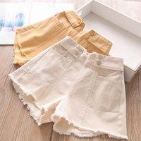Baby Shorts Children Summer Girls Clothes Wear Denim Pants Casual Tassels 2-7Y B5393