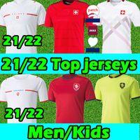 21/22 Czech Soccer Jerseys Switzerland Home Away Seferovic Xhaha 2021 2022 Elvedi Akanji Rodriguez Zakaria Embolo Behrami Shaqiri Men Kids Football shirts Thailand