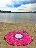 Sommer Obst Strandtuch Pizza Burger Schädel Eisdrecke Erdbeere Runde Strand Badetuch Kissen Bodenmatte Badeanzug Wrap Tuch Schal HWF8340