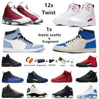 air jordan retro 12 Twist jumpman scarpe da basket da uomo 1s University Blue travis Scott x fragment Gioco di influenza Red flint 13s da uomo scarpe da ginnastica sportive da