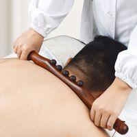 Natural Carbonized Wood Scraping Massage Stick Body Massage SPA Therapy Tool Point Treatment Guasha Relaxation Massage Stick